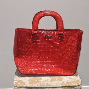 Red Crocodile Print Leather Kate Spade Satchel